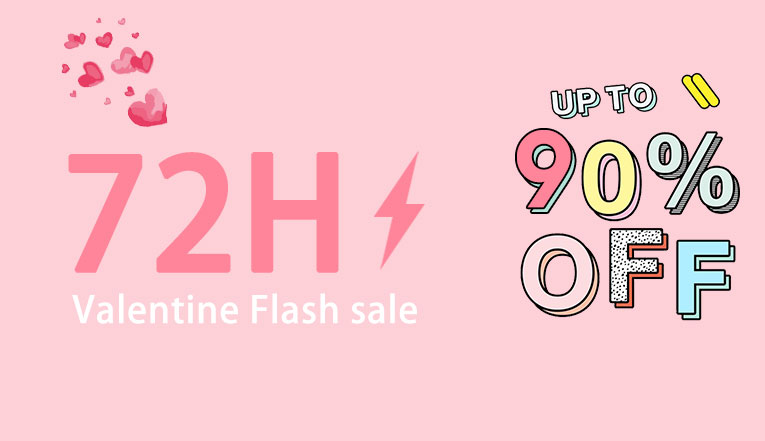 Valentine flash sale: Limited-time Offer!