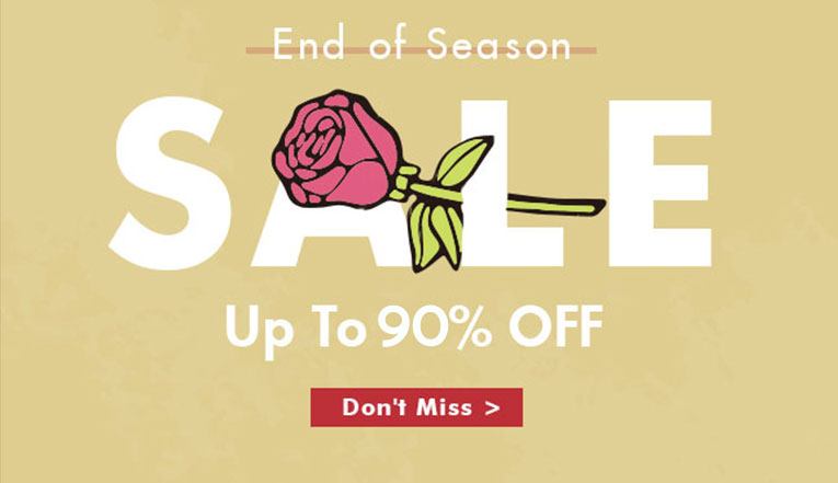 End Of The Season Sale: Up To 90% Off!