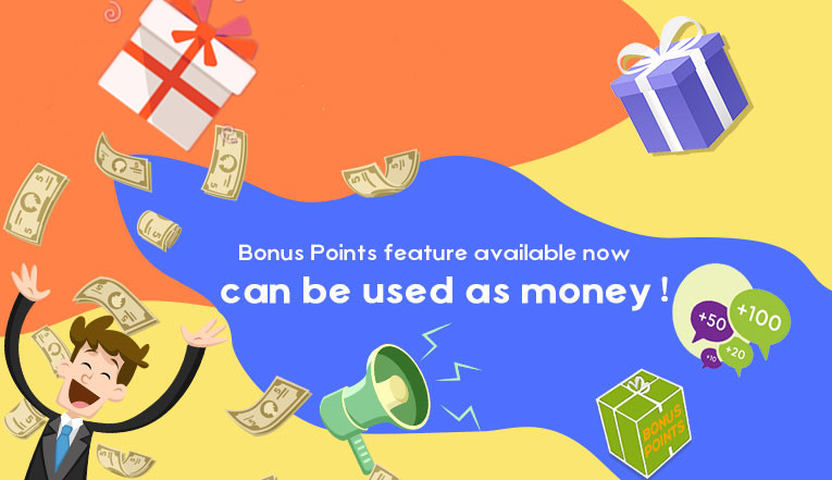 Bonus Points feature available now!