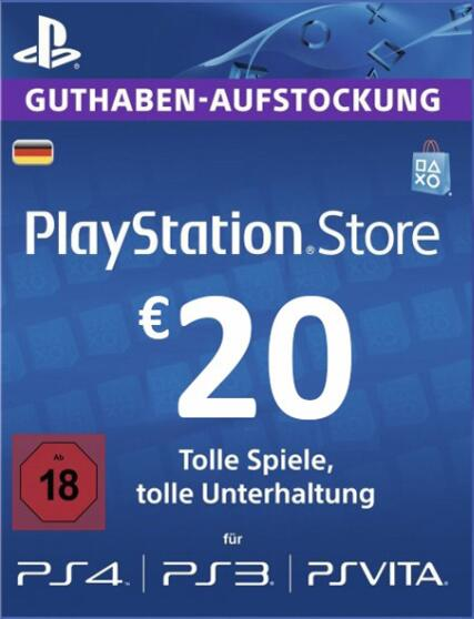 Play Station Network 20 EUR DE
