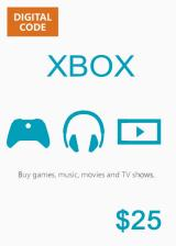 Official XBOX Live Gift Card 25 USD Key