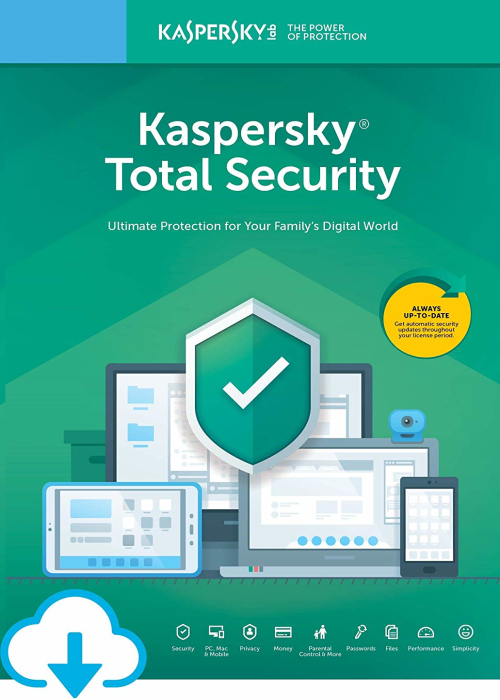 Kaspersky Total Security 2019 10 PC 1 Year Key North America